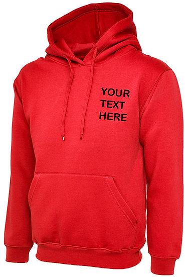 Personalised Red Hoody