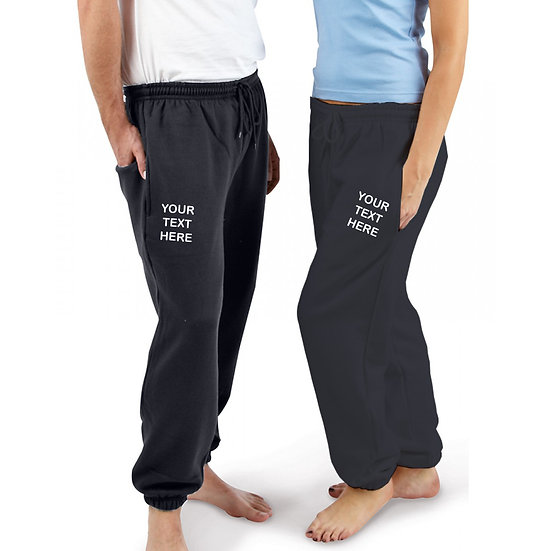 Navy Blue Joggers showing left and right leg placement