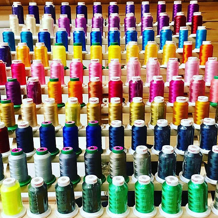 Various threads of different colours
