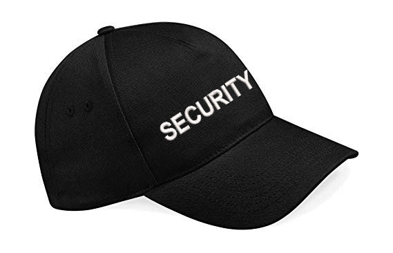 Black classic cap showing text security and placement