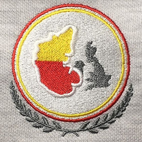 map embroidery