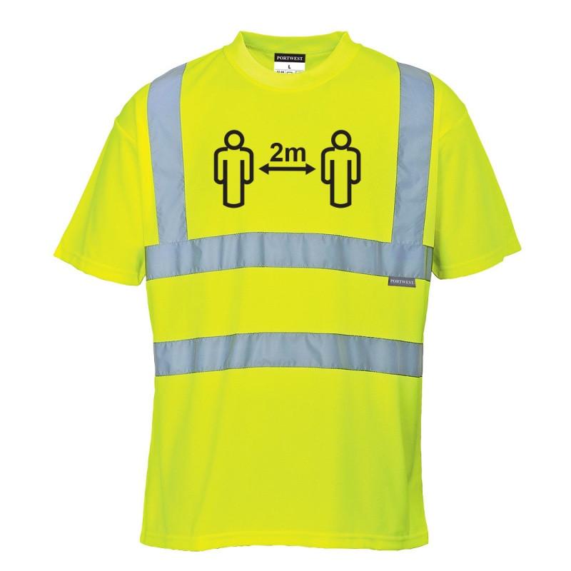 CV78 - Social Distance Hi-Vis T-Shirt