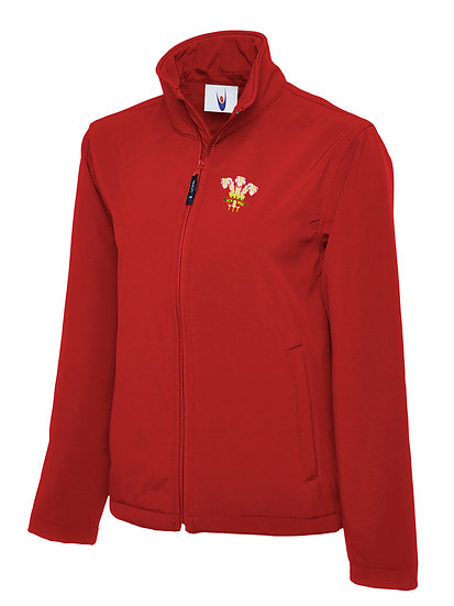 Embroidered Wales Active Softshell
