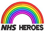 NHS Heroes embroidery with a rainbow