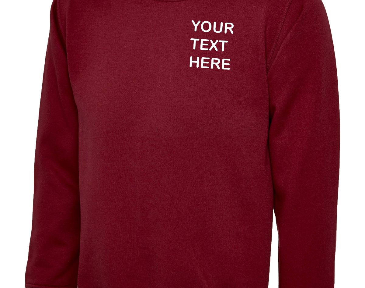 Uneek Maroon Sweatshirt
