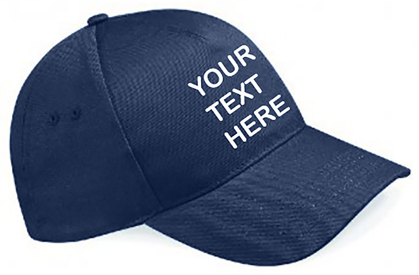 French Navy Blue Classic Cap showing front placement