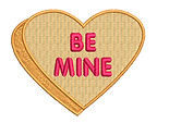 BE MINE loveheart embroidery