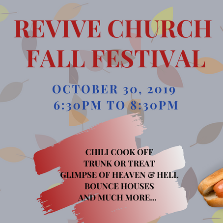 Fall Festival 2019 will be here soon