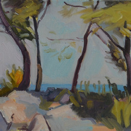 Pines with sea and rocks, Sitges