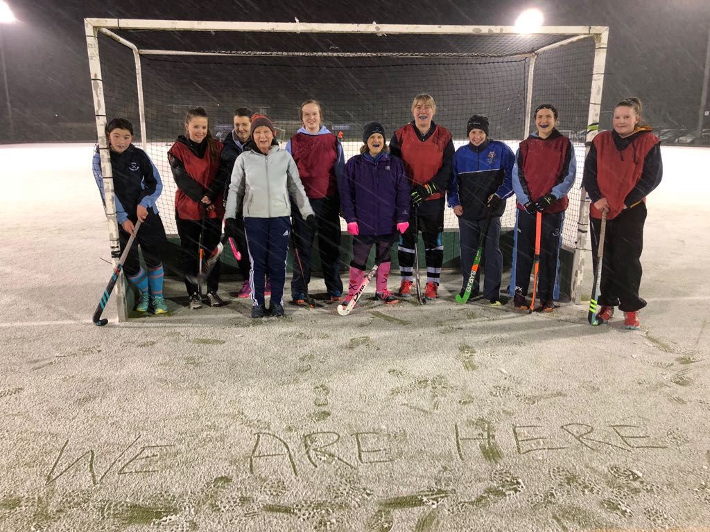 Snowy Hockey Training