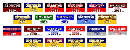 """""""CLASS OF"""" MONTGOMERY COUNTY LICENSE PLATES"""