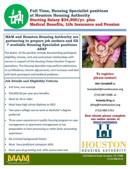 Houston Housing Authority Housing Specialist Position flyer.jpg