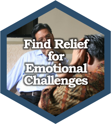 Find relief for emotional challenges