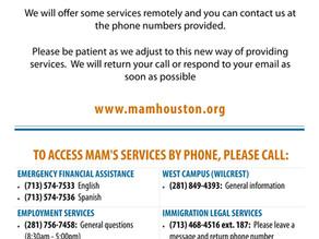 MAM Remote Services Contact Information (Información sobre servicios de manera remota)