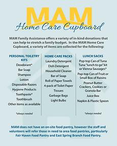 MAM Home Care Cupboard Flier