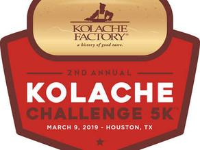 Press Release: KOLACHE FACTORY CHALLENGE 5K RETURNS TO HOUSTON MARCH 9