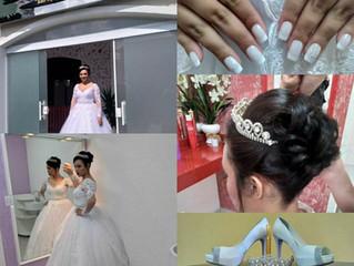 Dia da Noiva da Mayara - Casamento dia 22/04  no Espaço de Beleza Danny.