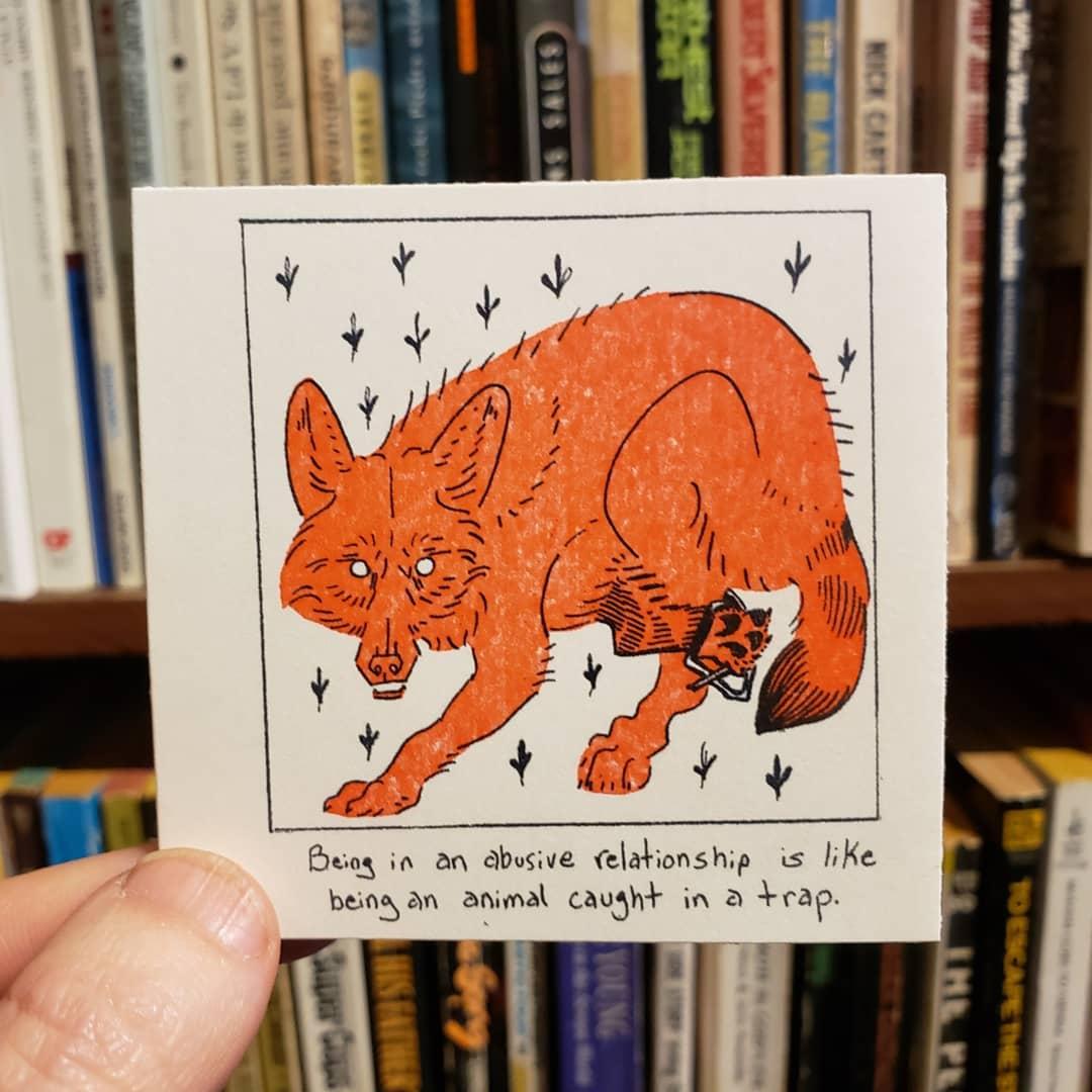 Fox illustration from a zine