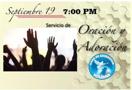 Sept 19 Servicio de Oracion y Adoracion_