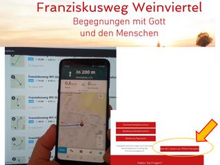 Einfach kommod:  Franziskusweg mit Sprachansage/-navigation