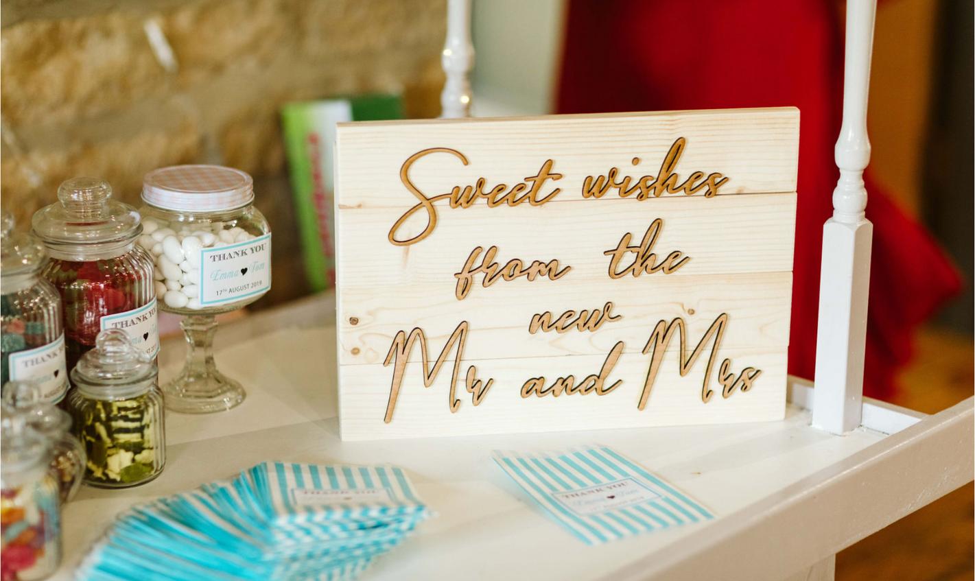 Freshwater Wedding Sweetcart Sign