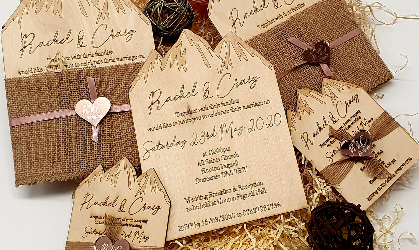 Rachel & Craig's Bespoke Wedding Stationary Suite