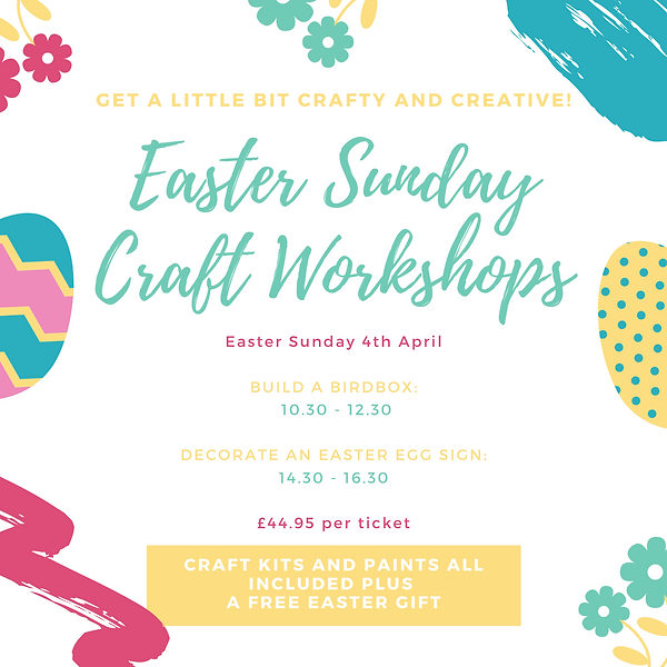 Green Flowers and Eggs Easter Invitation