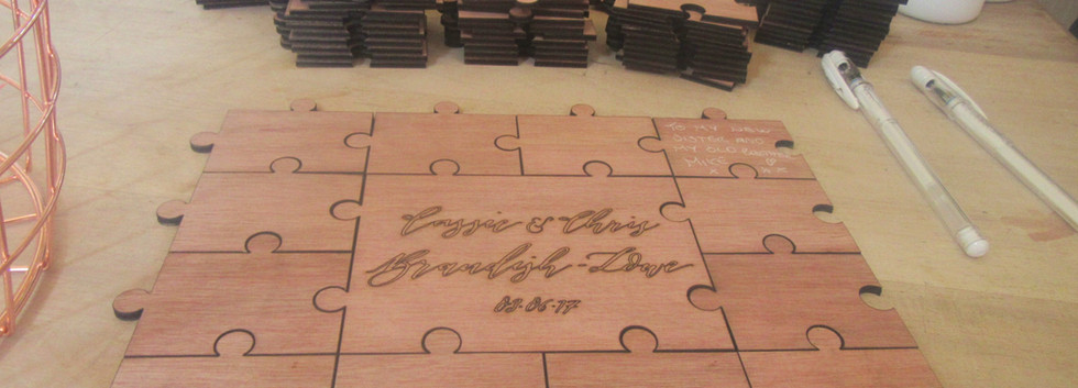 Wooden Guestbook Puzzle