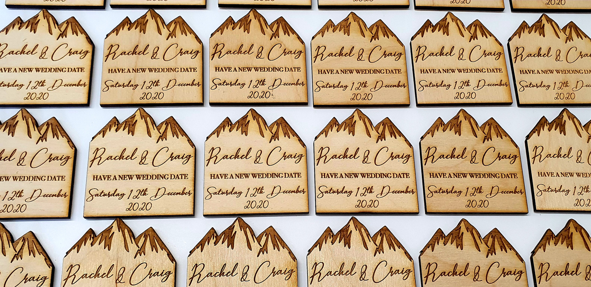 Wooden Change Of Date Magnets