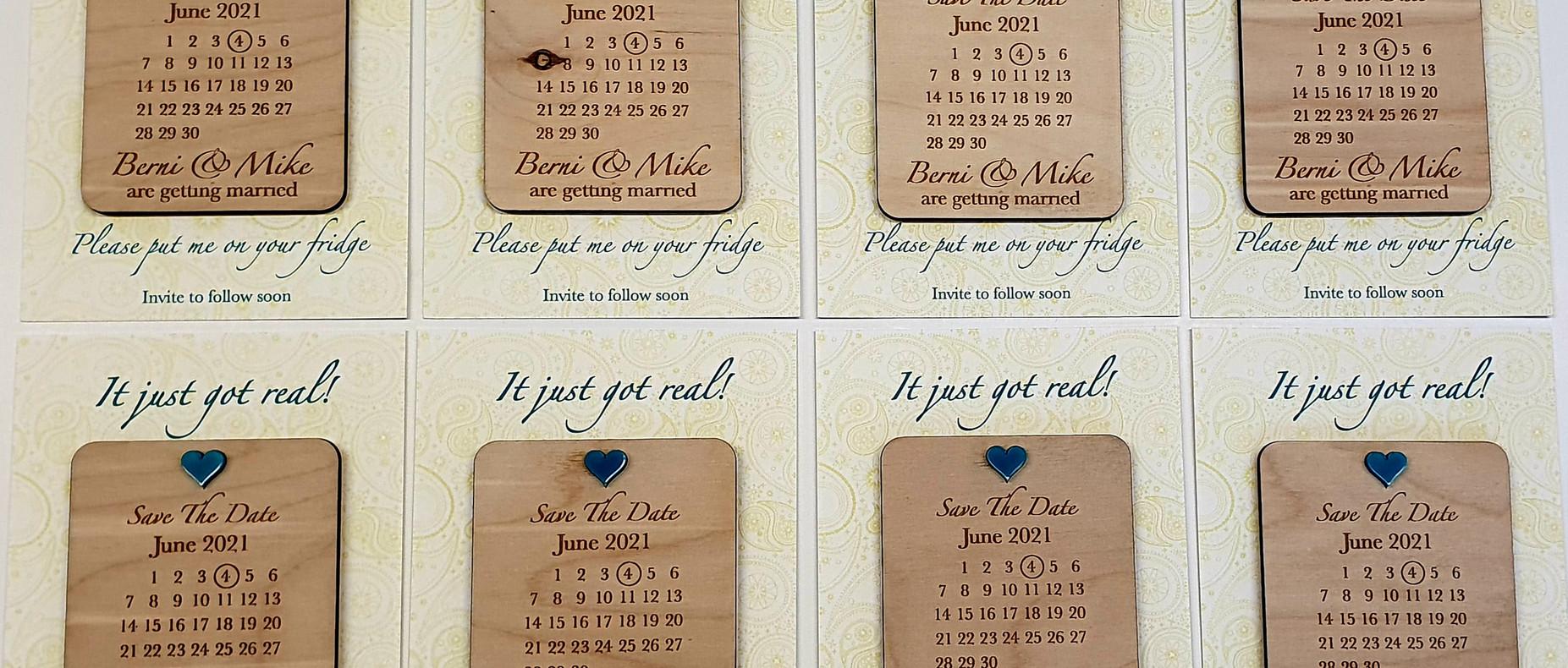 Berni & Mike's Save the Dates