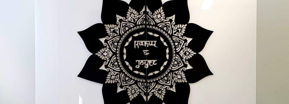 Personalised Wedding Mandala Sign