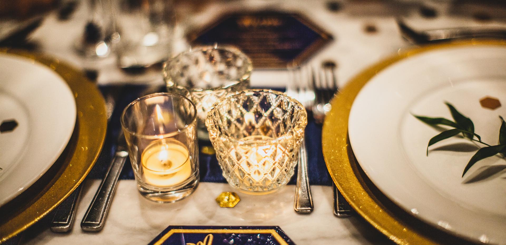 Royal Blue & Gold Bespoke Wedding Package