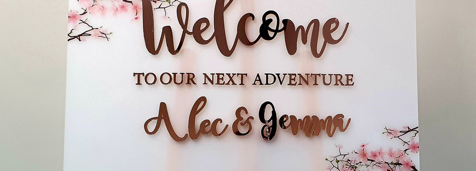 Welcome to the Wedding Sign