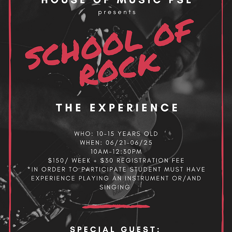 School of Rock- Band Experience