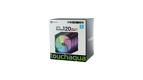 Bitspower Touchaqua Notos RGB 120mm Fans - 5 Pack