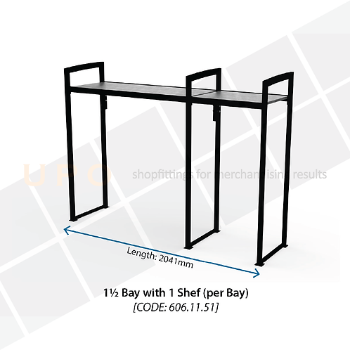 Chiller Mid Floor Racking 1.5 Bay, 1 Shelf