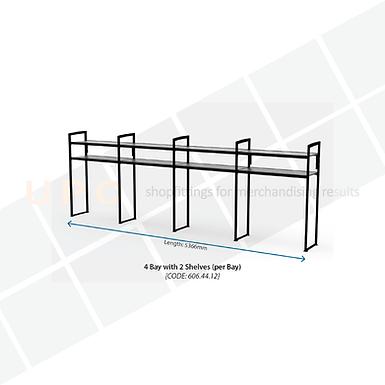 Chiller Wall Racking - 4 Bay, 2 Shelves (per bay)