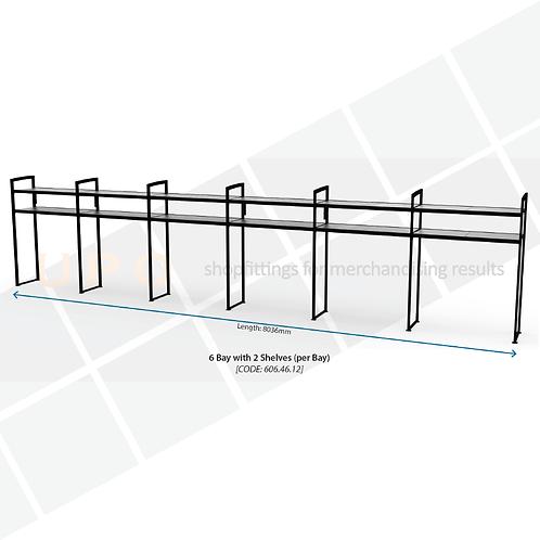 Chiller Wall Racking - 6 Bay, 2 Shelves (per bay)