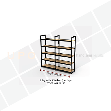 Wine & Spirit Wall Racking - 2 Bay