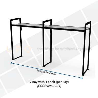 Chiller Mid Floor Racking - 2 Bay, 1 Shelf