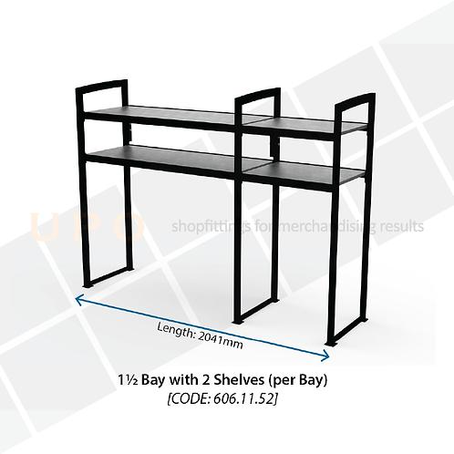 Chiller Mid Floor Racking - 1.5 Bay, 2 Shelves