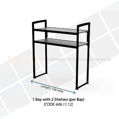 Chiller Mid Floor Racking - 1 Bay, 2 Shelves