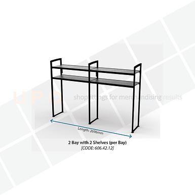 Chiller Wall Racking - 2 Bay, 2 Shelves (per bay)