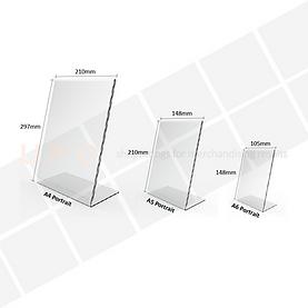 Acrylic Freestanding Ticket Holder - Ang