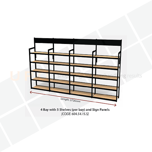 Wine & Spirit Wall Shelving with sign panels