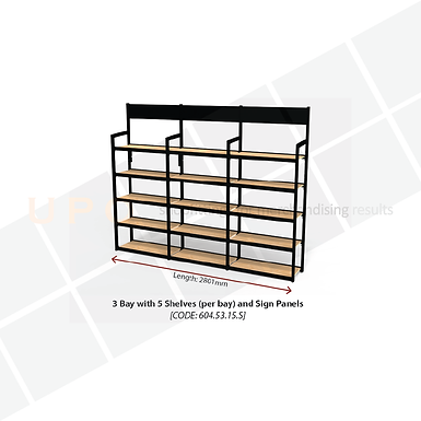Wine & Spirit Wall Shelving - with sign panels