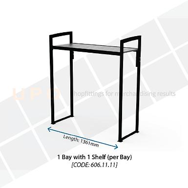 Chiller Mid Floor Racking - 1 Bay, 1 Shelf