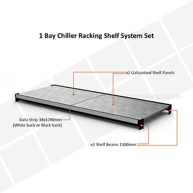 Chiller Racking Shelf Set - 1300mm