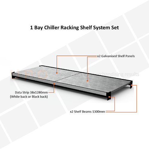 Chiller Racking Shelf Set - 1300mm