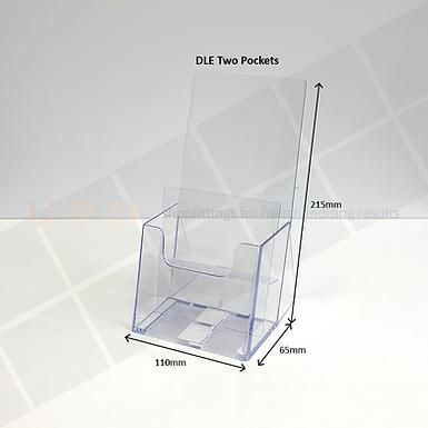 DLE - Two Pockets Brochure Holder